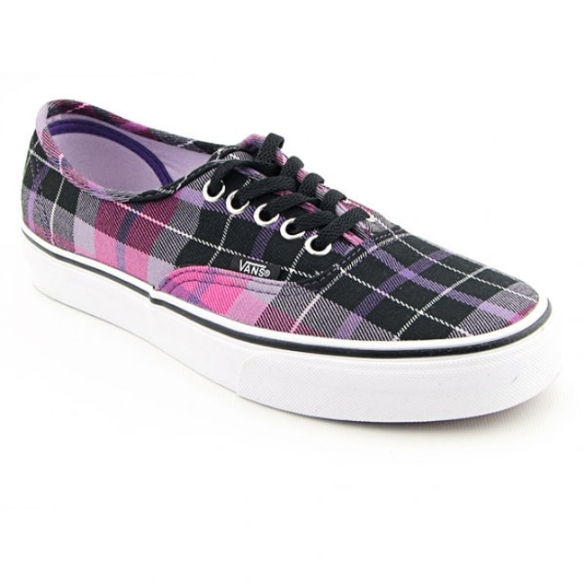 Shop Vans Men s  Authentic Hollie Plaid  Pink Black Skate Shoes - Free  Shipping Today - Overstock.com - 6349279 b08652fef