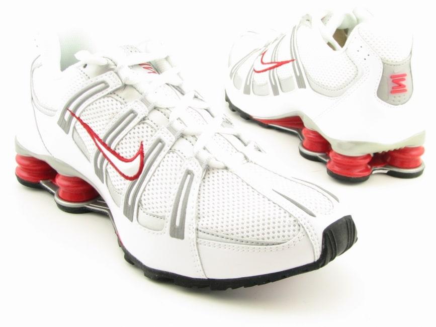 8e74d38fb03 Shop Nike Men s  Shox Turbo Mesh  White Black Silver Running Shoes (Size 8)  - Free Shipping Today - Overstock.com - 6349251