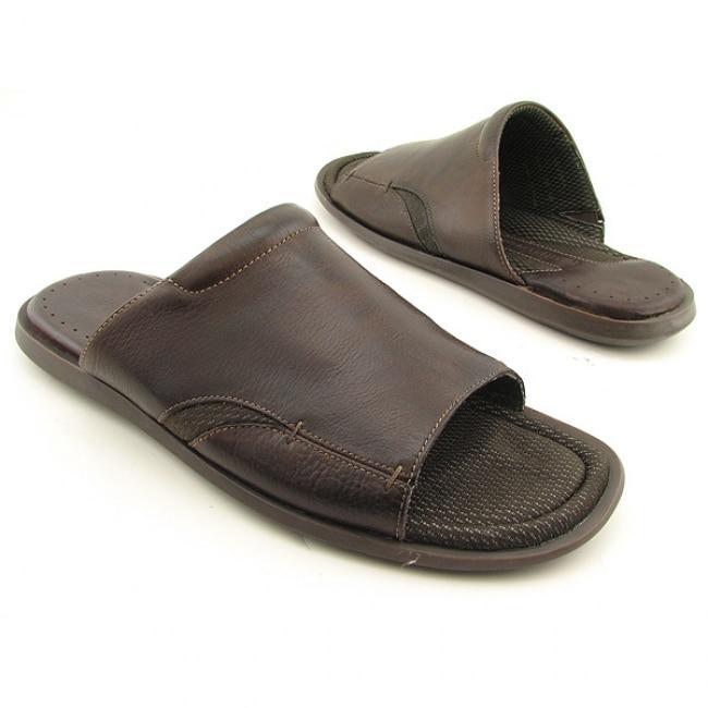 Johnston Murphy Men S Vaden Slide Brown Sandals Leather