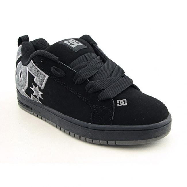 DC Shoe Co USA Youth Boys 'Court Graffik Se' Black/Plaid Skate Shoes (Size 6.5)