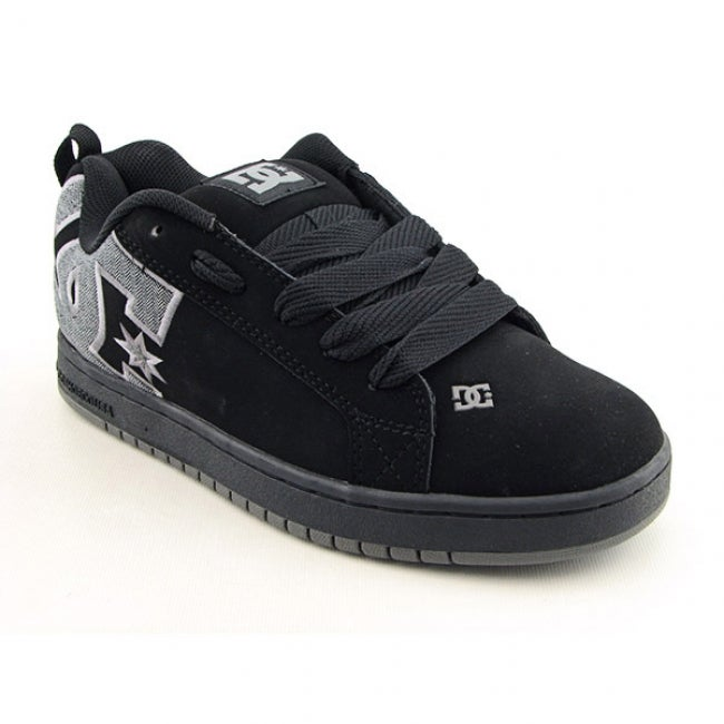 DC Shoe Co USA Men's 'Court Graffik SE' Black/Plaid Skate Shoes