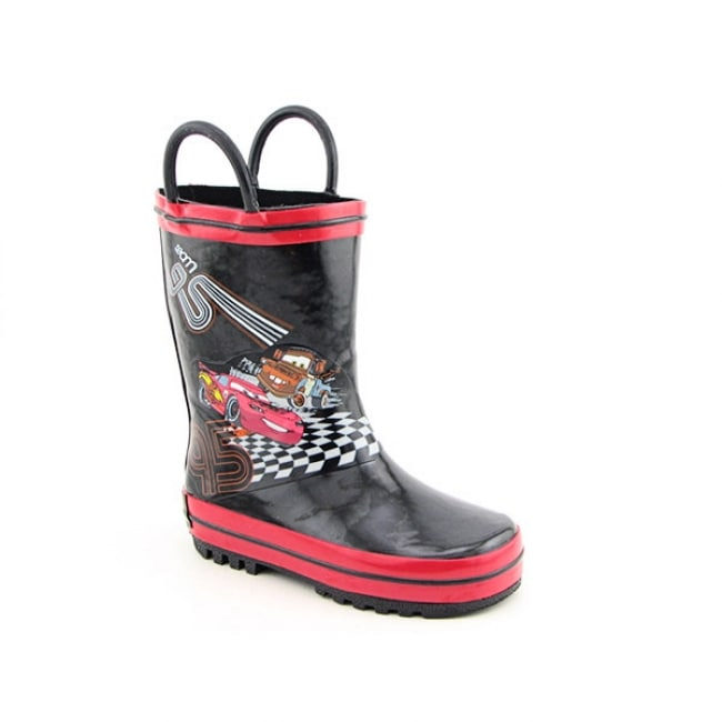 Disney Pixar 'Cars' Toddler Black/Red Rain Boots