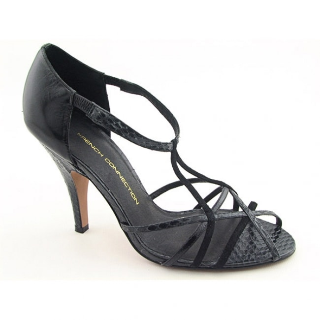 294d24df65d FCUK French Connection Womens   x27 Sonia  x27  Black Strappy Heel Shoes