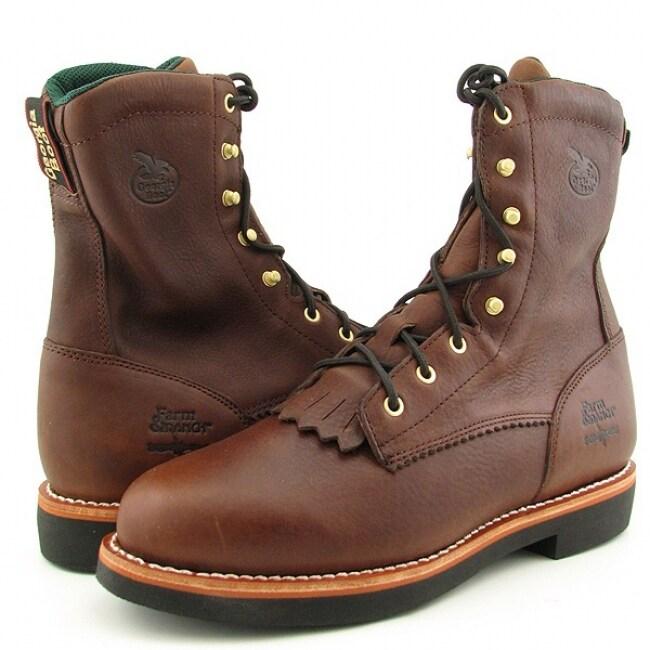 Georgia Men's Brown Walnut Work Boots (Size 11)
