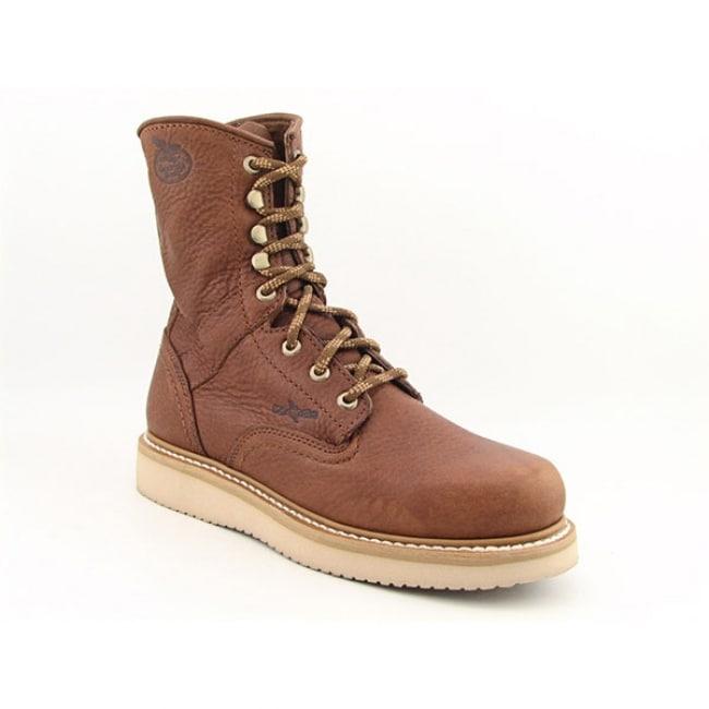 Georgia Men's 'Barracuda' 8-inch Brown Work Boots