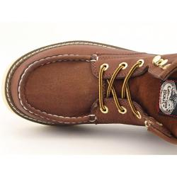 Georgia Youth Boys 'Moc Toe' Brown Boot (Size 9)