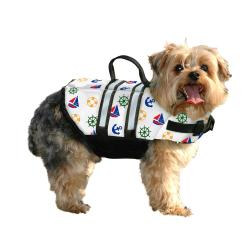 Paws Aboard- Designer Doggy Life Jacket, Nautical Dog XS