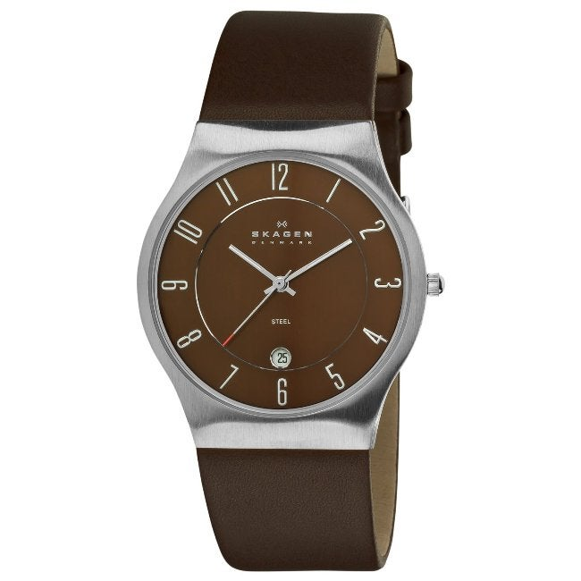 Skagen Men's Steel Brown Dial Watch - Thumbnail 0