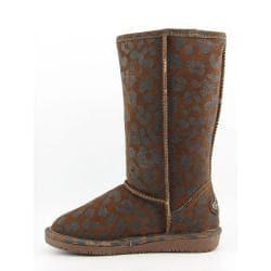 Bearpaw Women's 'Mara' Brown Cognac Black Boots Snow Shoes - Thumbnail 1