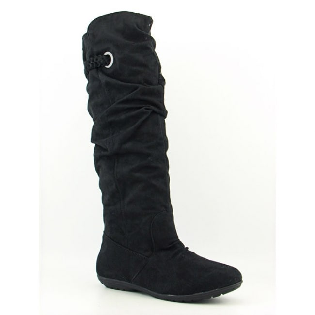 R2 By Report Keyes Womens Black Knee Boots