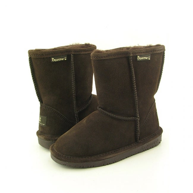 Bearpaw Emma Girls Brown Chocolate Winter Boots