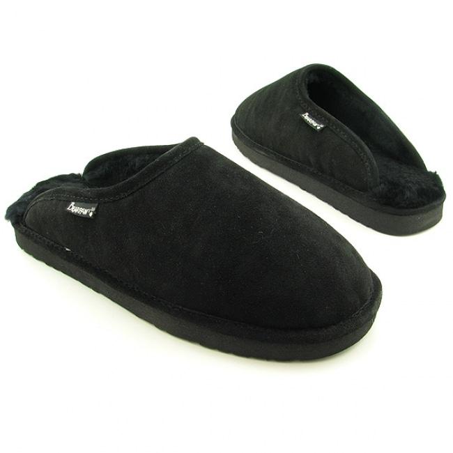 Bearpaw Men's 'Darwin' Black Slippers Shoes