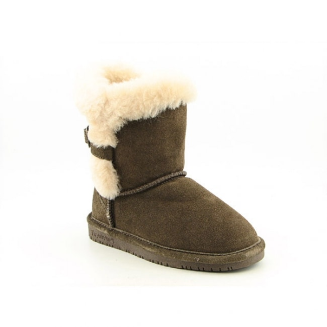 Bearpaw Halle Youth Girls Brown Maple Winter Boots