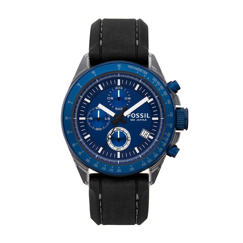 Fossil Men's 'Decker' Silicone Strap and Aluminum Watch