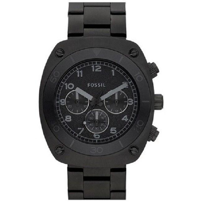 Fossil Men's Black Steel Chronograph Watch