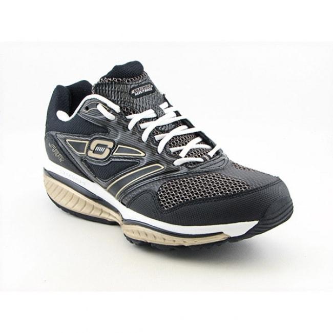 Skechers Shape-Ups Men's 'Defiance-Dare' Black/Gold Running Shoes