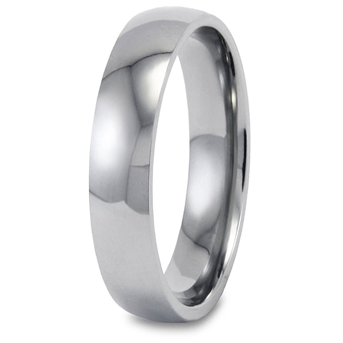 Polished Stainless Steel 5mm Ring - Thumbnail 0