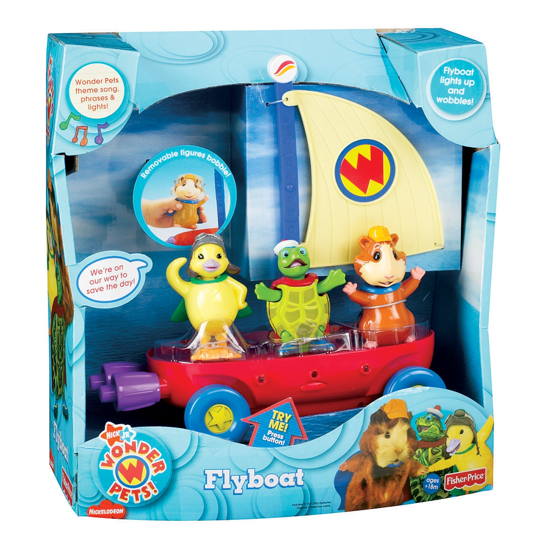 Fisher Price Wonder Pets Flyboat Play Set Free Shipping