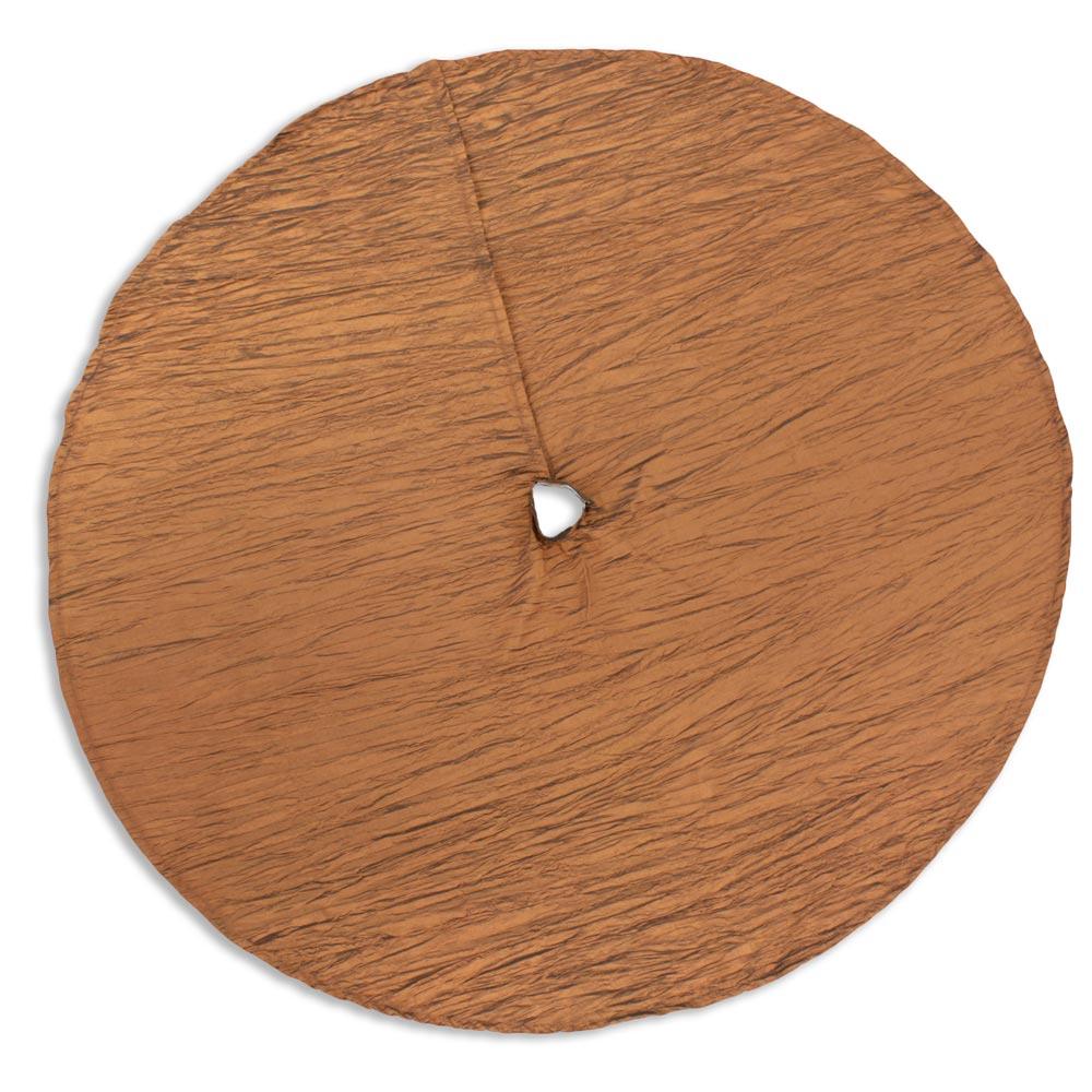 Hues Copper Hemmed Holiday Tree Skirt