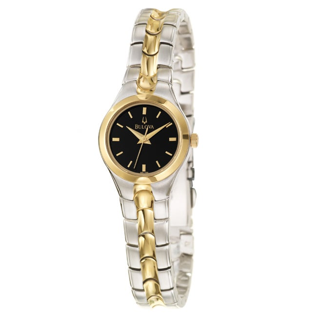 Bulova Women's 'Dress' Two-tone Stainless Steel Quartz Watch