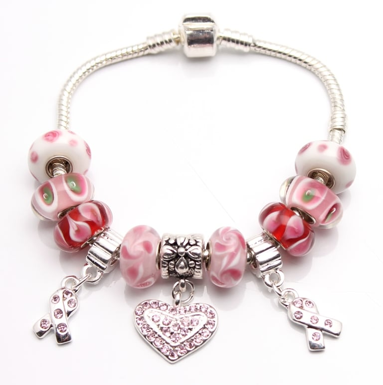 Bleek2Sheek True Hope Collection: Pink Edition Charm Bracelet