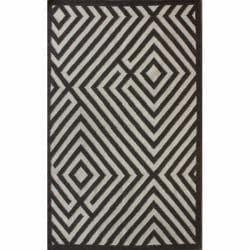 Handmade Luna Amish Wool Flatweave Brown Kilim Rug (8' x 10')
