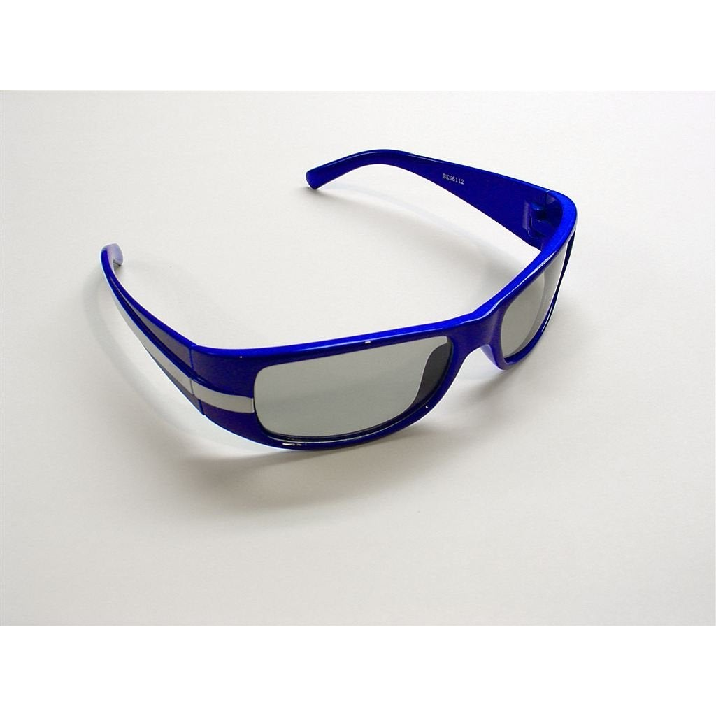 Visual World Products 3D Glasses Child Racing Strip Blue