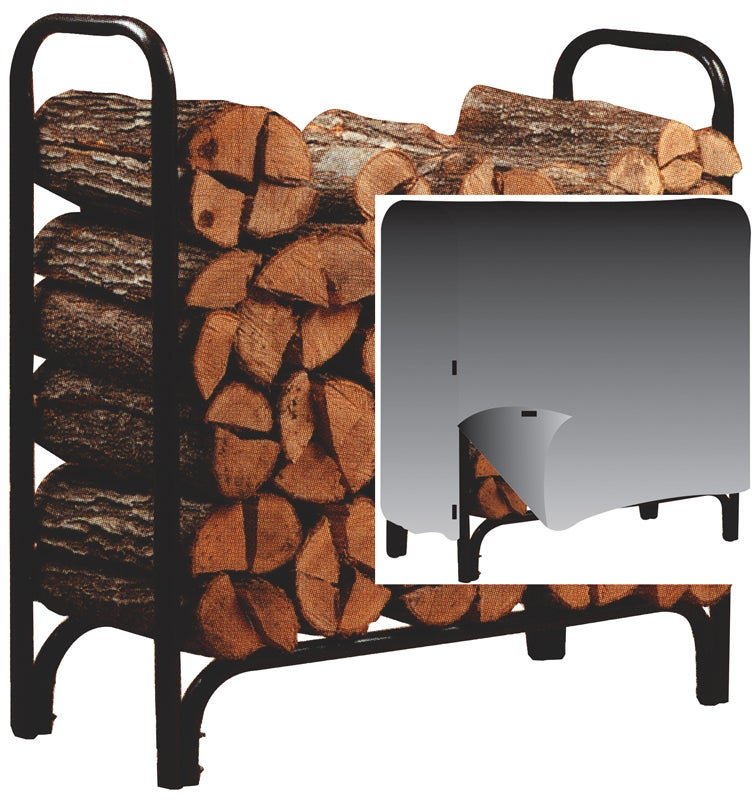 Panacea Deluxe Log Rack With Cover 4'