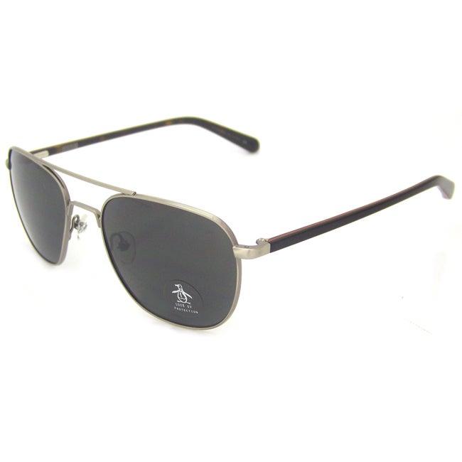 Original Penguin Women's Si Silver The Meteor Aviator Sunglasses