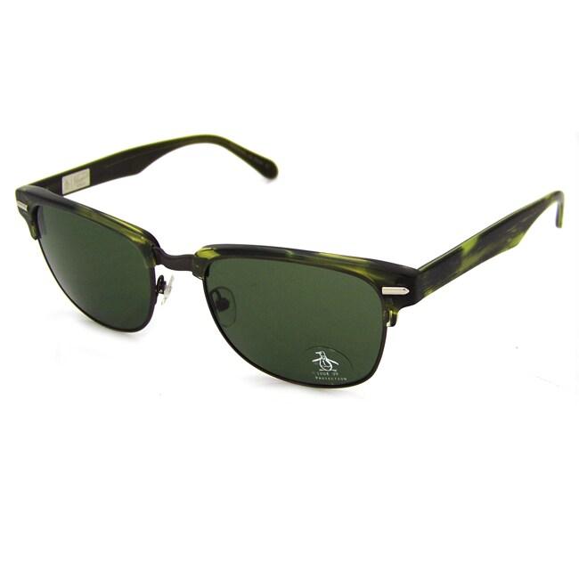 Original Penguin Women's Gunmetal/ Green 'The Highpockets' Sunglasses