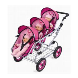 Doll Triple Stroller - Free Shipping Today - Overstock.com - 13980181