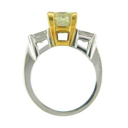 18k Gold 2 7/8ct TDW Certified Clarity-enhanced Diamond Engagement Ring (Fancy Yellow, SI1) - Thumbnail 1