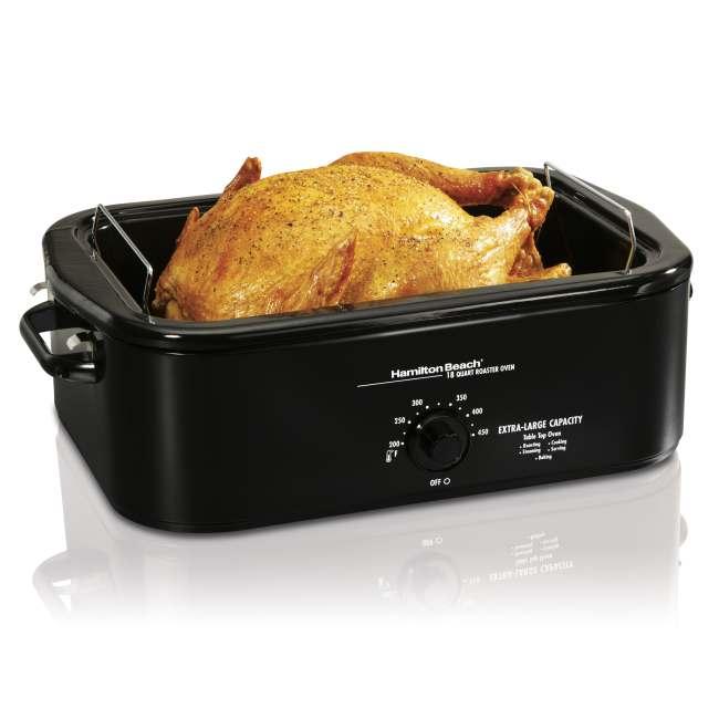 Sportsman 18 Qt Roaster Oven 800654: Hamilton Beach 32188 18 Quart Roaster Oven