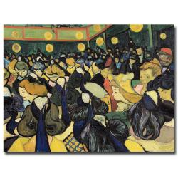 Vincent van Gogh, 'The Dance Hall at Arles, 1888' Canvas Art
