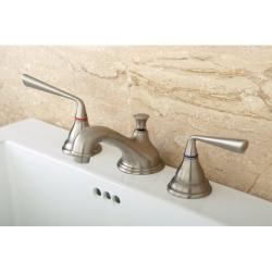 Widespread Satin Nickel Bathroom Faucet