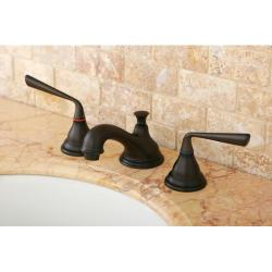 Widespread Oil Rubbed Bronze Bathroom Faucet
