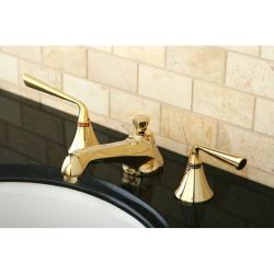 Polished Brass Widespread Bathroom Faucet