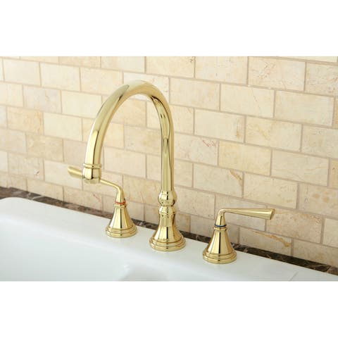 Polished Brass 3-hole Kitchen Faucet