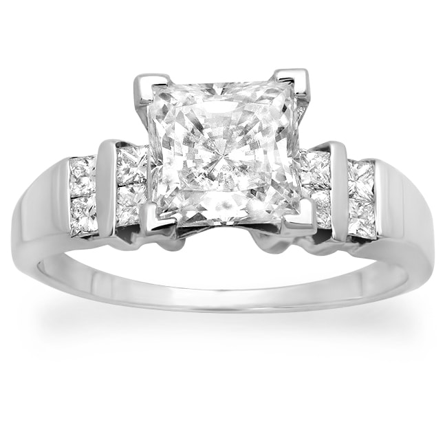 14k Gold 1 1/3ct TDW Certified Clarity-Enhance Diamond Engagement Ring (F-G, SI2-SI3)