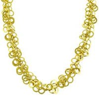 14k Yellow Gold Multi-rolo Link Necklace