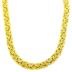 Fremada 14k Yellow Gold 9mm Byzantine Necklace