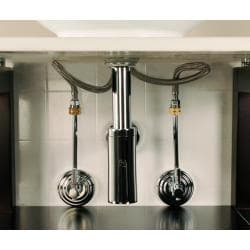Decorative Chrome Vessel Sink Plumbing Supply Kit with overflow