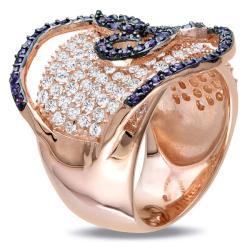 Miadora Sterling Silver White and Purple Cubic Zirconia Ring (8 1/6ct TGW)