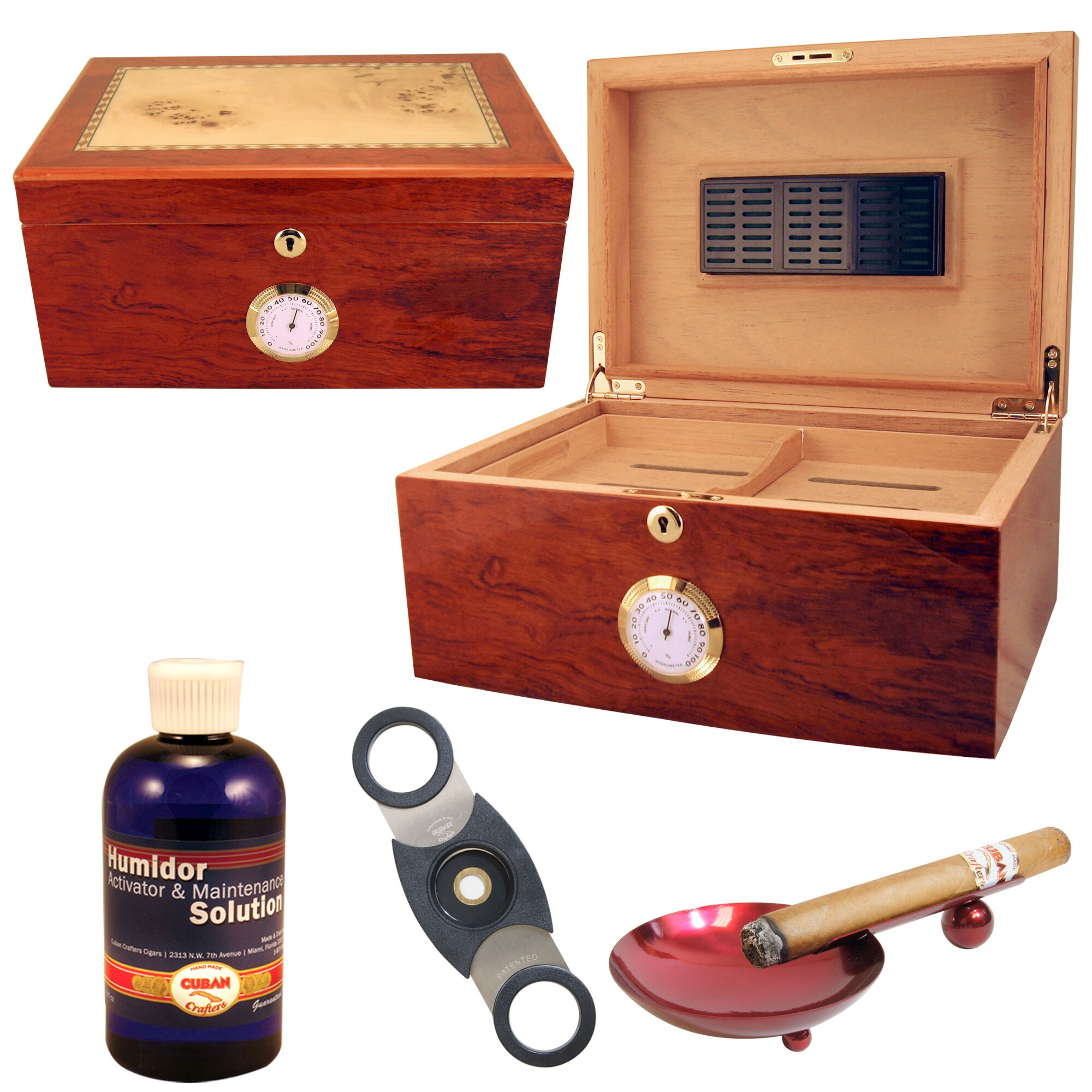 100 Cigar Humidor and Accessories Set Doce
