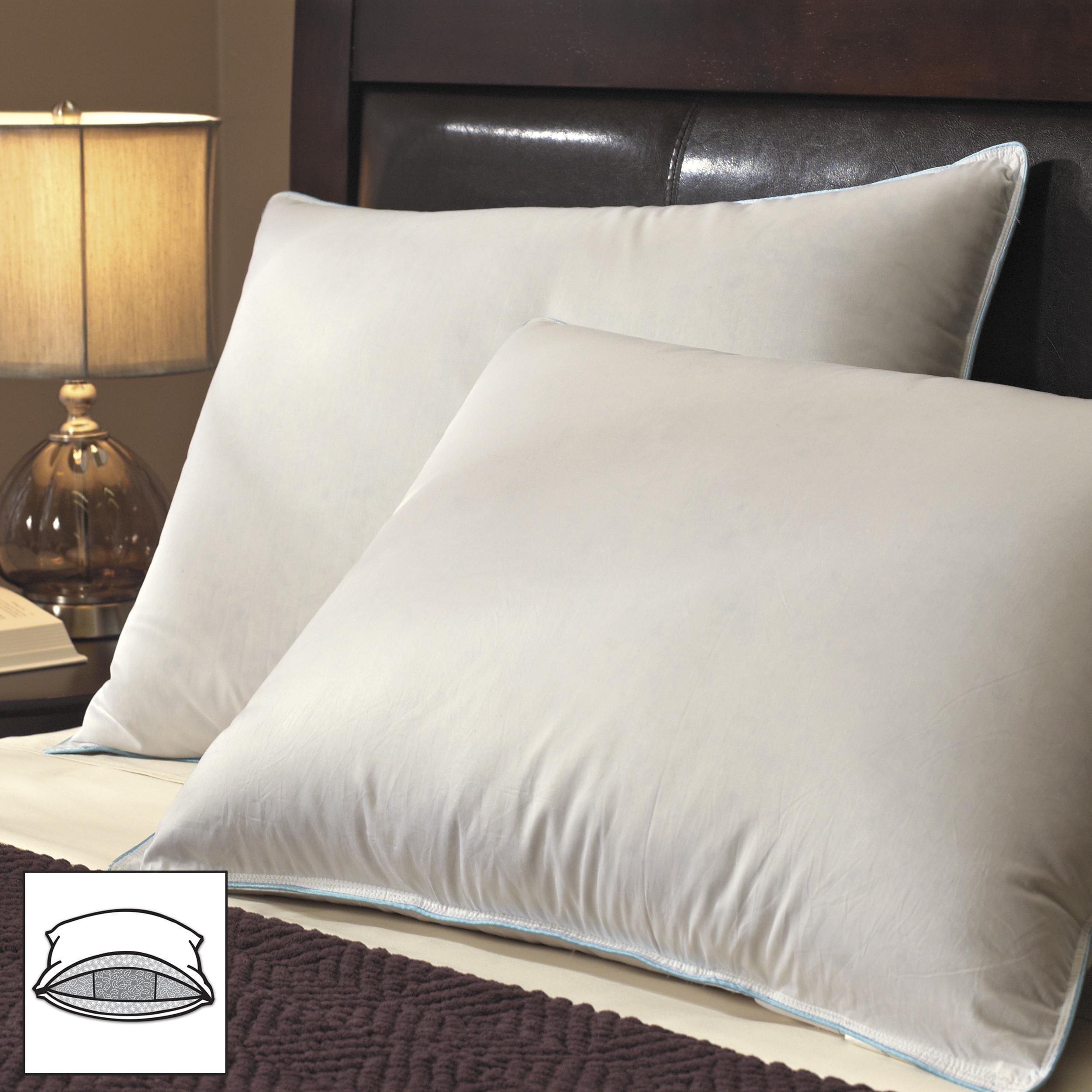 Famous Maker Premier 600 Fill Power Pyrenees Down Triple Chamber Pillows (Set of 2)