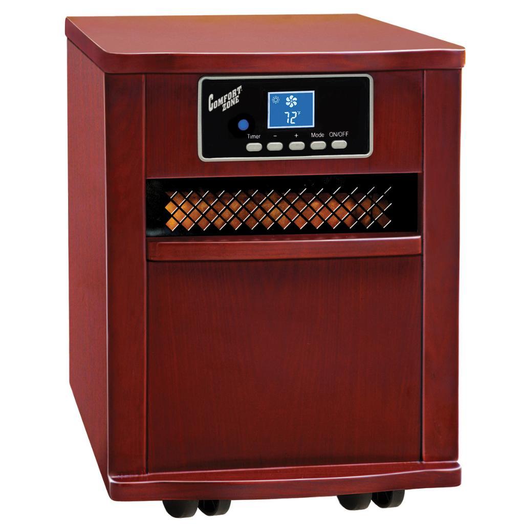 Comfort Zone Cherry Wood Cabinet Infared Quartz Heater (C...