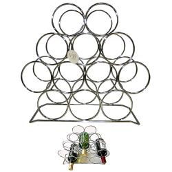 VIP Wine Accessories Metal Rack and Wine Accessories Set - Thumbnail 1