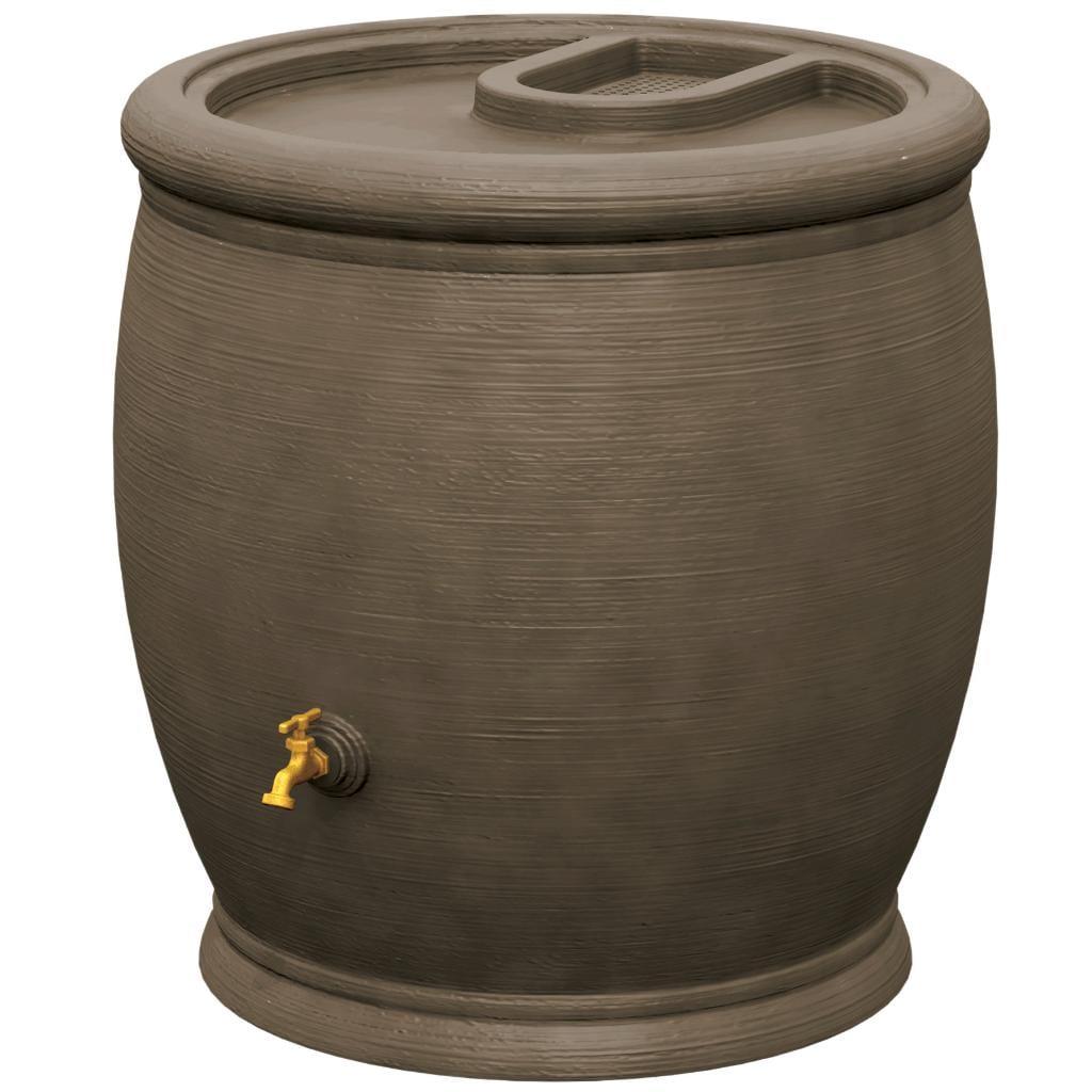 Algreen Barcelona Rain Barrel Chocolate Brown 100 Gallon