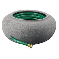 Black Granite Finish Plastic Garden Hose Pot