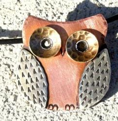 My Three Metals Owl Necklace (North Carolina) - Thumbnail 2